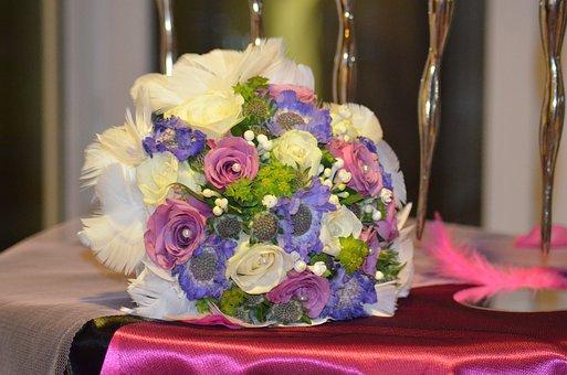 Bouquet, Wedding Bouquet, Table, Table Wedding, Wedding