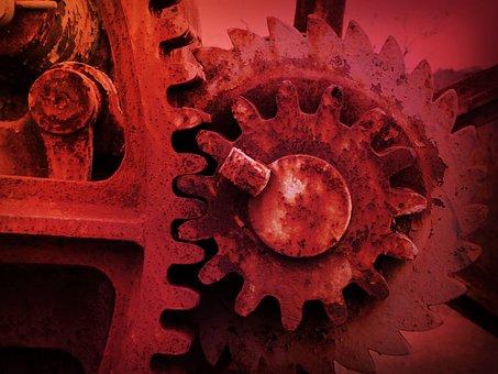 Mechanism, Detail, Background, Texture, Function
