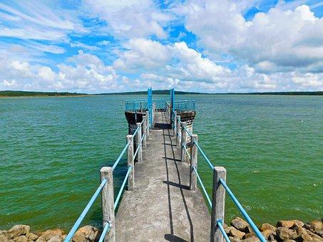 Mare Aux Vacoas Reservoir, Lake, Water, Bridge