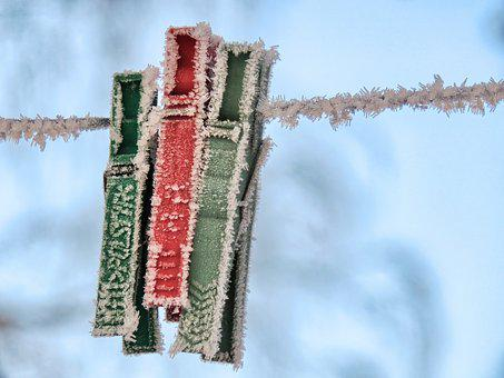 Binder, Paper Clips, Winter, Frost