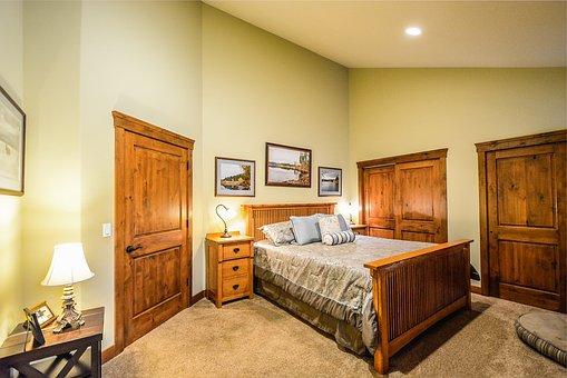 Master Bedroom, Bed, Closets, Residential, Bedroom