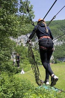 Bridge, Tibetan, Suspended, Outdoor, Adventure, Balance