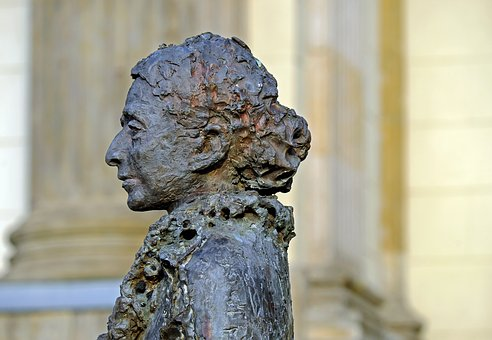 Sculpture, Bronze, Woman, Portrait, Lise Meltner