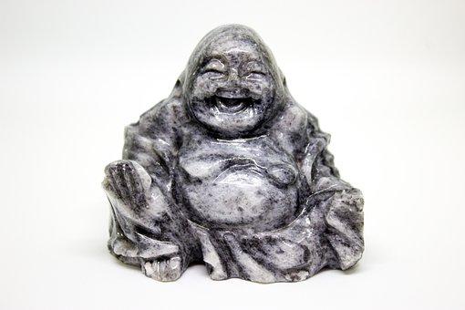 Happy Buddha, Sculpture, Jade, Eastern, Buddhism