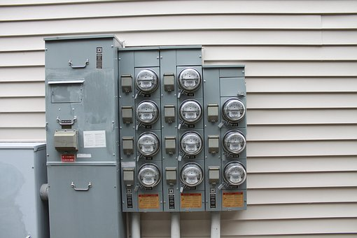 Meter, Electric, Building, Tan, Siding