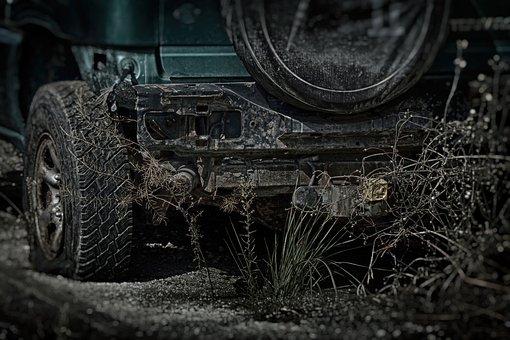 Car, Scrap, Trash, Dark, Apocalypse, The Country Wins