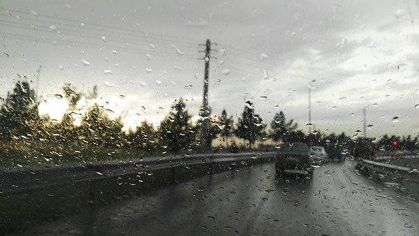 Rain, Tehran, Sunlight, Clouds, Cityscape, Freeway