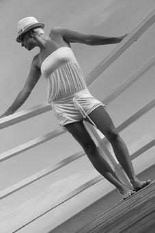 Model, Beach, Hat, Girl, Female, Vacation, Sea, Sun