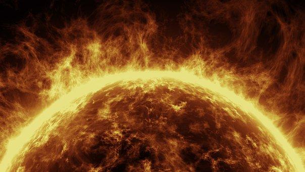 Sun, 3d, Computer Graphics, Yellow, Hot, Fire, Dark
