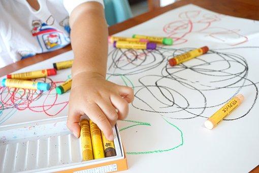 Drawing, Crayon, Graffiti, Kids, Children, Parenting