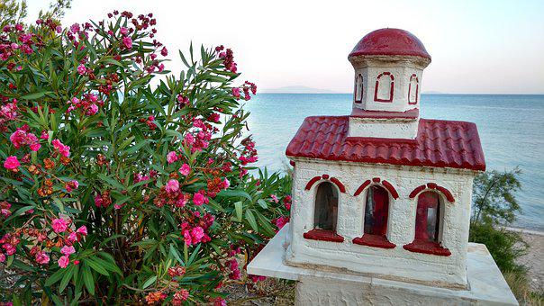 Greece, Sea, Beach, Outlook, Halkidiki, Kirchlein