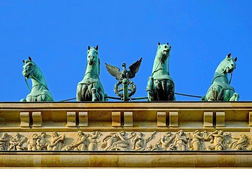 Brandenburg Gate, Berlin, Landmark, Goal, Quadriga