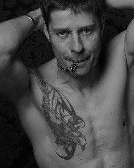 Man, Tattooed, Muscular, Male, Tattoo, Shirtless