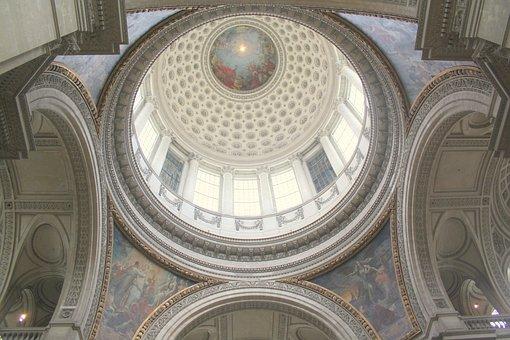 Paris, Pantheon, Architecture, Dome, Monument, Interior