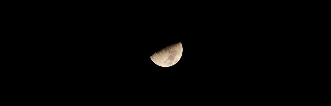 Moon, Night, At Night, Night Sky, Nature, Sky