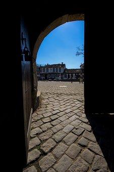 Cobblestone, Door, Opening, Old, Town, Stone, Historic