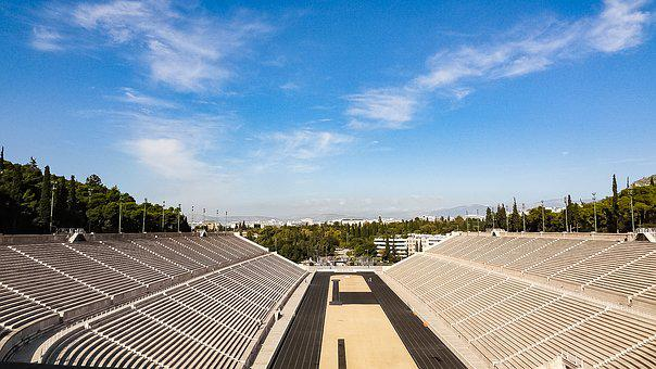 Greece, Athens, Lines, Olympic Stadium, Stage, Olympics