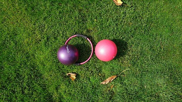 Open Space, Green, Sports, Grass, Pilates Ball, Circle