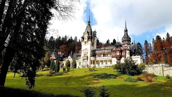 Castle, Castel, Park, Garden, Romania, Peles