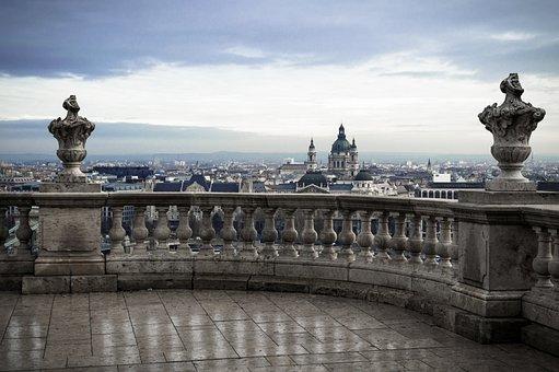 Budapest, Szent István Basilica, Castle, Rainy, Cloud