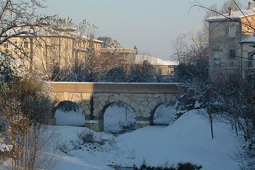Savignano On The Rubicon, Snow, Roman Bridge, History