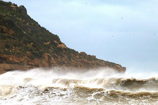 Sea, Temporary, Javea, Barrack Beach, Waves, Island