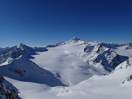 Mountains, Skis, Snow, Snow-capped Mountains, Stok