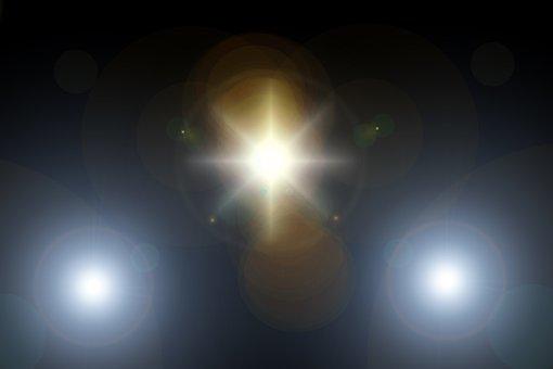 Lens Flare, Light, Rays, Spotlight, Reflection, Texture