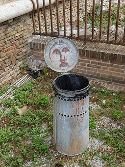 Street Art, Trash Can, Street, Urban, Artistic