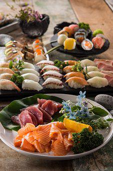 Sushi, Food, Delicious, Salmon, Eat, Plate, Restaurants