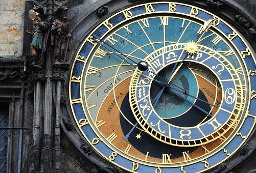 Czech Republic, Prague, Town Hall Storm, Clock