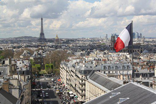 Paris, Pantheon, Architecture, City, Flag, Travel