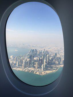 Travel, Middle East, Qatar, Cityscape, View, Above