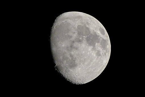 Moon, Space, Astronomy, Galaxy, Sky, Night, Planet