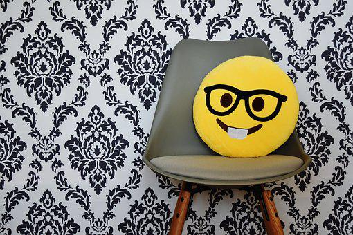 Smiley, Chair, Laugh, Emotions, Modern, Background
