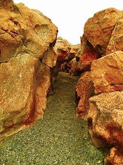 Rocks, Desert Stone, Landscape, Path, Between Rocks