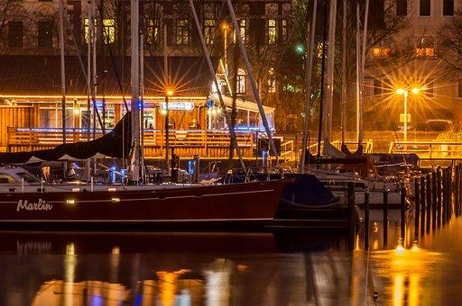 Flensburg, Port, Winter, Sailing Vessel, Boot, Coast