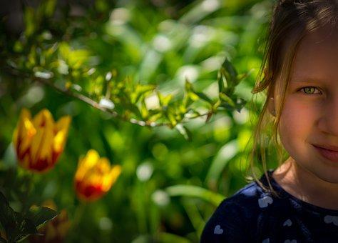 Portrait, Child, Girl, Face, Human, Look, Eyes, Bokeh