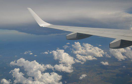 Aerial, Cloud, Wing, Aircraft, Plane, Sky, Travel, High