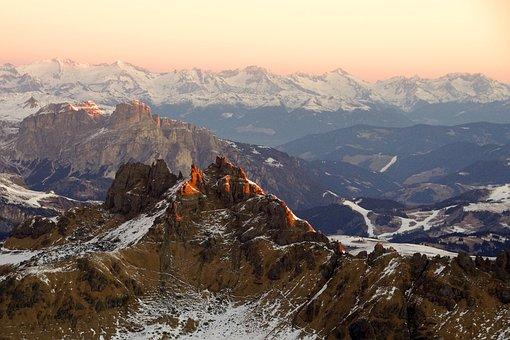 Dawn, Padon, Dolomites, Italy, Veneto