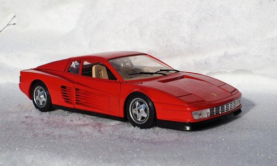 Model Car, Ferrari, Testarossa, Speed, Italy, Fast