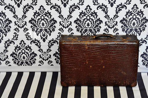 Luggage, Antique, Old, Junk, Leather, Generations