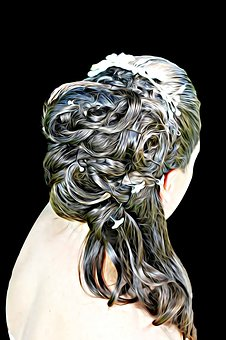 Digital, Painting, Graphics, Hair, Headdress