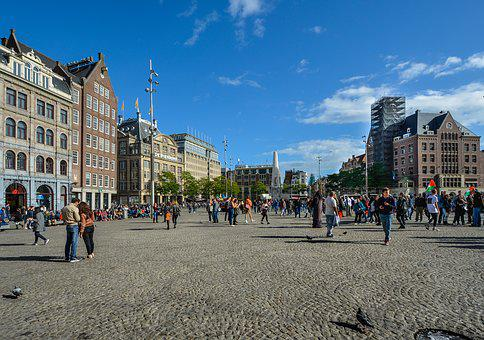 Amsterdam, Square, Netherlands, Holland, Europe, Dutch