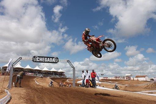 Bike, Adrenaline, Rally, Motorcycle, Jump, End, Race