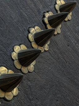 Door, Knobs, Handle, Doorknob, Wooden, Metal, Bronze