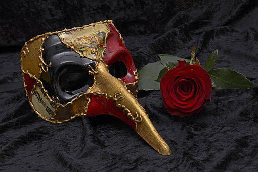 Mask, Carnival, Venice, Mysterious, Close Up, Romance