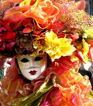 Venice, Carnival, Mask, Costume, Italy, Masks, Fun