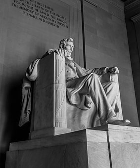 Lincoln, Monument, Statue, Usa, Memorial, America