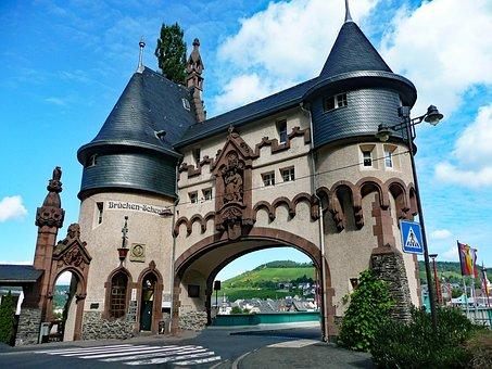 Traben-trabach, Bridge, Art Nouveau, Mosel, Sachsen